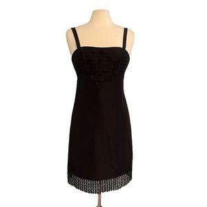 Lilly Pulitzer Alana Silk Dress Fancy Black size 4
